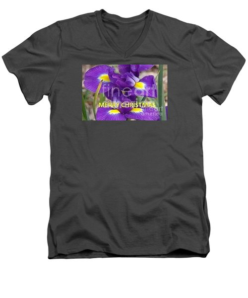 Men's V-Neck T-Shirt featuring the photograph Christmas Card by Rod Ismay