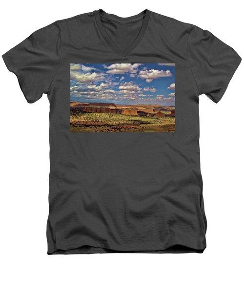 Capitol Reef National Park Catherdal Valley Men's V-Neck T-Shirt