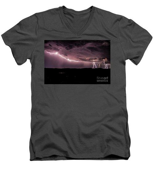 Lightning Men's V-Neck T-Shirt