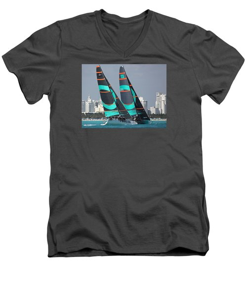 Miami Regatta Men's V-Neck T-Shirt