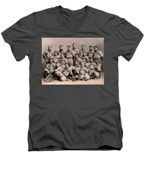 1896 Michigan Baseball Team Men's V-Neck T-Shirt