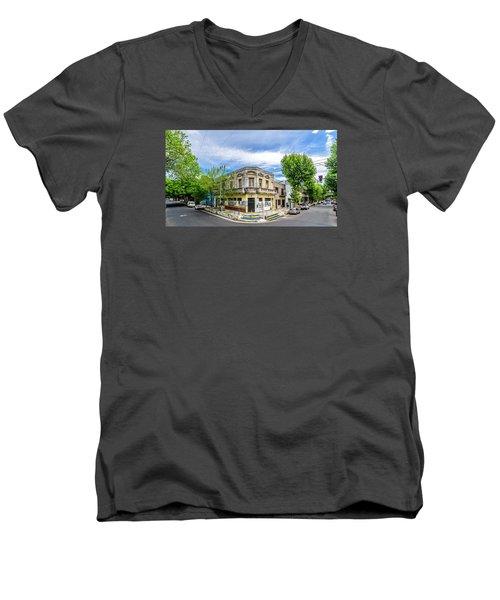 1899 Men's V-Neck T-Shirt by Randy Scherkenbach
