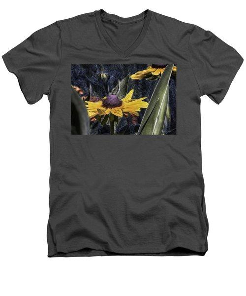 Thinking Of Vincent Van Gogh Men's V-Neck T-Shirt