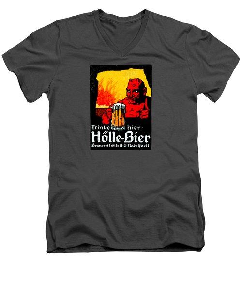 1905 German Beer Poster Men's V-Neck T-Shirt by Historic Image