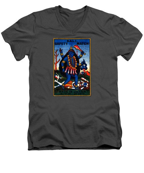 1920 Hindu Goddess Kali Men's V-Neck T-Shirt
