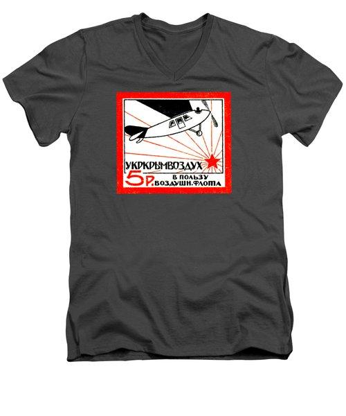 1923 Soviet Russian Air Fleet Men's V-Neck T-Shirt