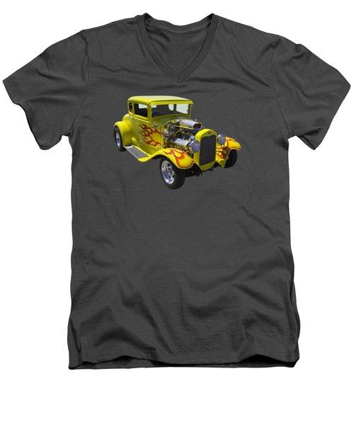 1930 Model A Custom Hot Rod Men's V-Neck T-Shirt by Keith Webber Jr