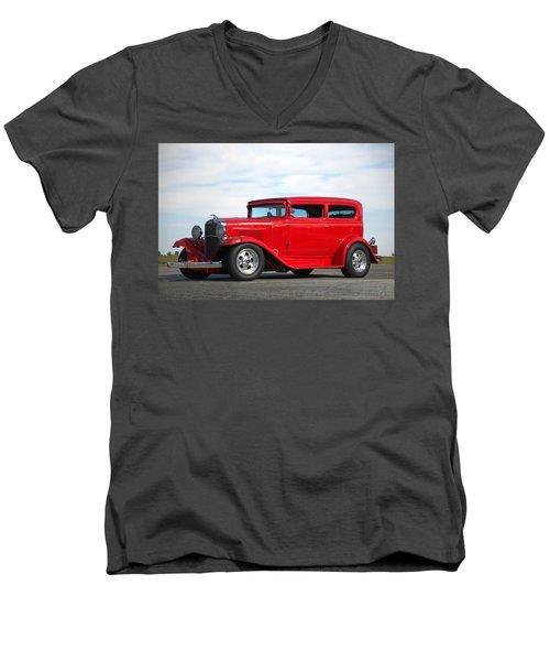1930 Chevrolet Sedan Men's V-Neck T-Shirt