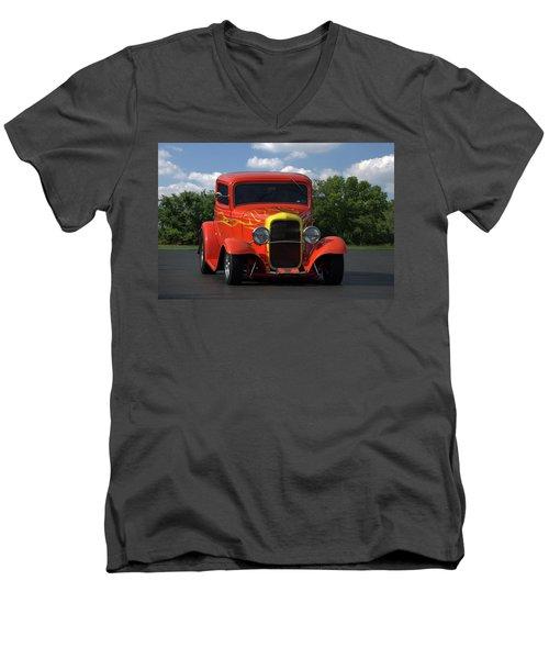 1932 Ford Lil Deuce Coupe Men's V-Neck T-Shirt