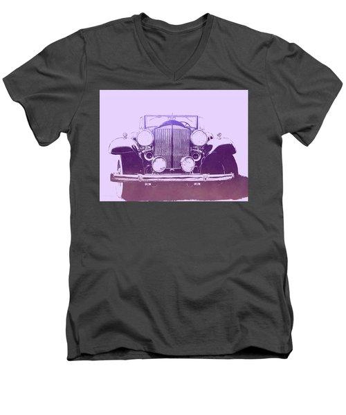 1932 Packard Pop Art Violet Gradient Men's V-Neck T-Shirt