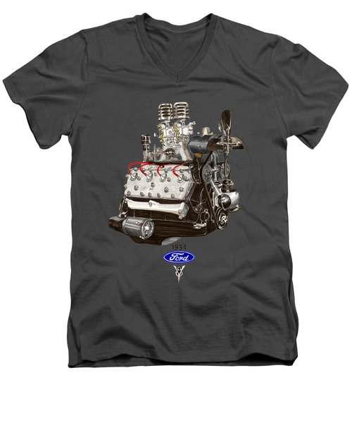 1934 Ford Flathead V 8 Tee Shirt Men's V-Neck T-Shirt