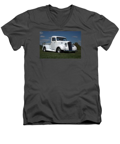 Men's V-Neck T-Shirt featuring the photograph 1937 Chevrolet Pickup Truck by Tim McCullough