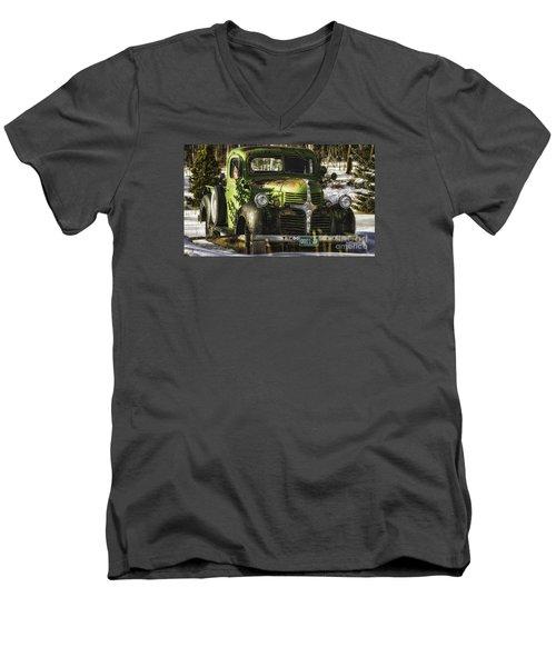 1940's Dodge  Men's V-Neck T-Shirt
