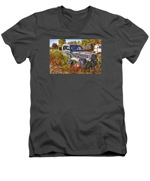 Men's V-Neck T-Shirt featuring the photograph 1941 Ford Truck by Mark Allen