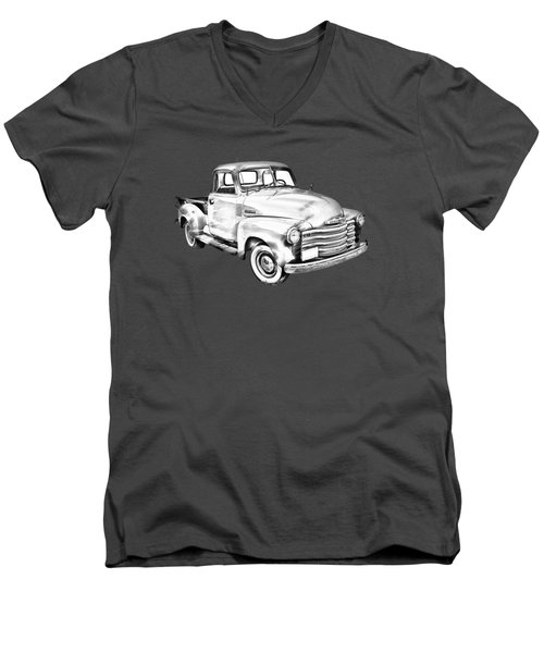 1947 Chevrolet Thriftmaster Pickup Illustration Men's V-Neck T-Shirt by Keith Webber Jr
