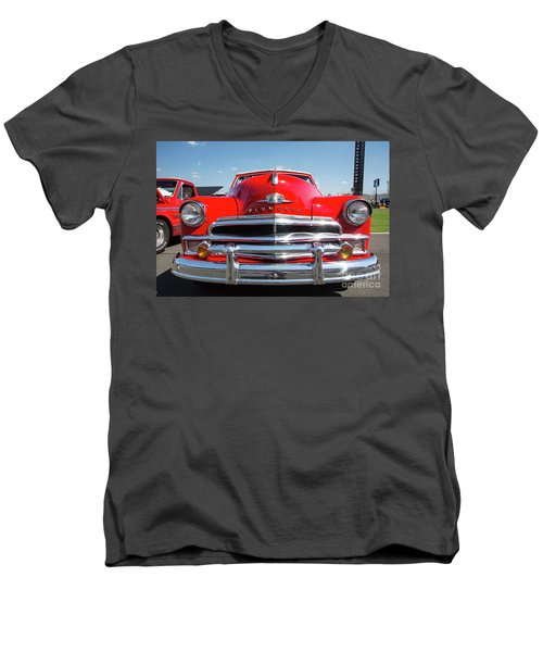 1950 Plymouth Automobile Men's V-Neck T-Shirt