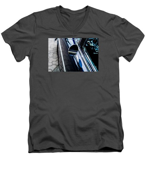 Men's V-Neck T-Shirt featuring the photograph 1950s Chevrolet by M G Whittingham