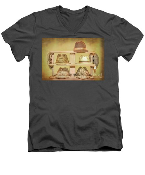 1950s Hats Men's V-Neck T-Shirt