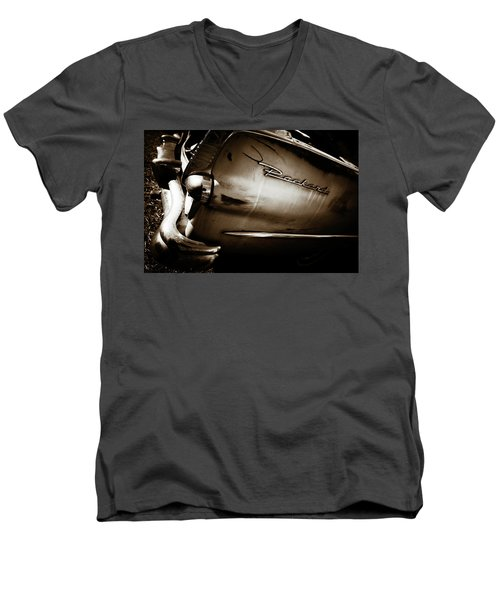 Men's V-Neck T-Shirt featuring the photograph 1950s Packard Tail by Marilyn Hunt