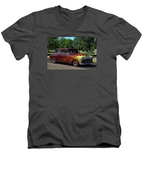 1952 Plymouth Concord Custom Men's V-Neck T-Shirt by Tim McCullough