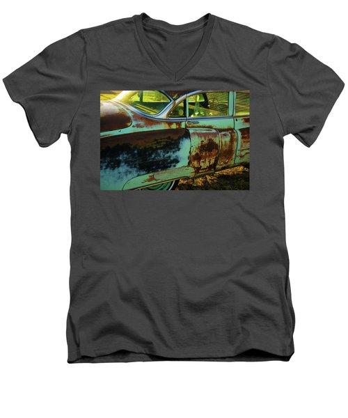 1953 Cadillac Rusting Away Men's V-Neck T-Shirt