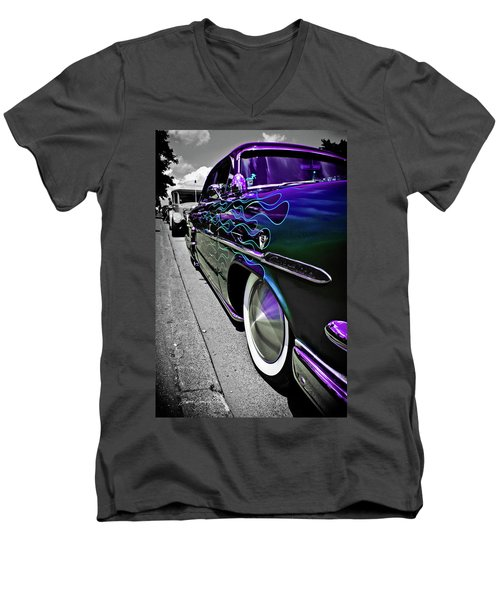 1953 Ford Customline Men's V-Neck T-Shirt by Joann Copeland-Paul