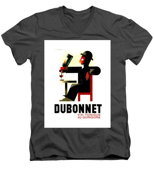 1956 Dubonnet Poster II Men's V-Neck T-Shirt