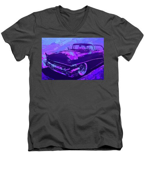 1956 Mercury Hardtop Custom Pop Violet Men's V-Neck T-Shirt