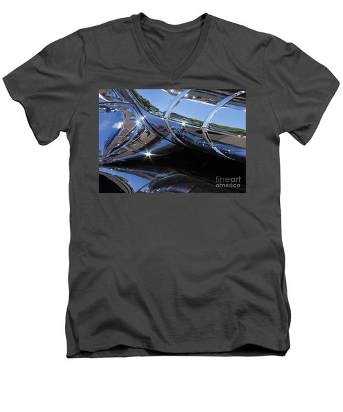 1956 Pontiac Chieftain Grill Abstract Men's V-Neck T-Shirt