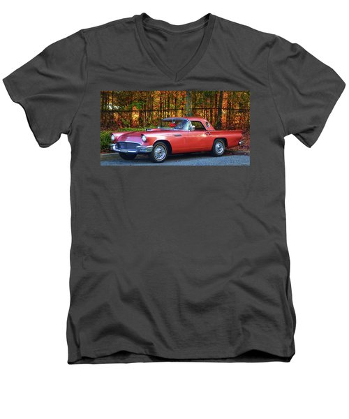 1957 Thunderbird  003 Men's V-Neck T-Shirt