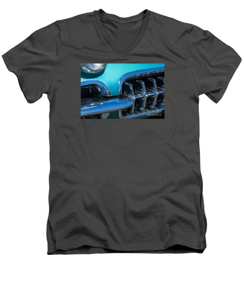 1960 Chevy Corvette Headlight And Grill Abstract Men's V-Neck T-Shirt