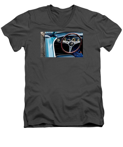 Men's V-Neck T-Shirt featuring the photograph 1961 Austin Healey 3000 by M G Whittingham