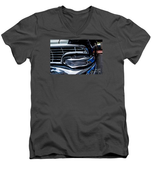 Men's V-Neck T-Shirt featuring the photograph 1958 Ford Crown Victoria by M G Whittingham