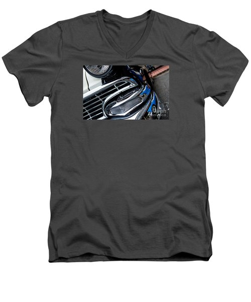 Men's V-Neck T-Shirt featuring the photograph 1958 Ford Crown Victoria Reflection 2 by M G Whittingham