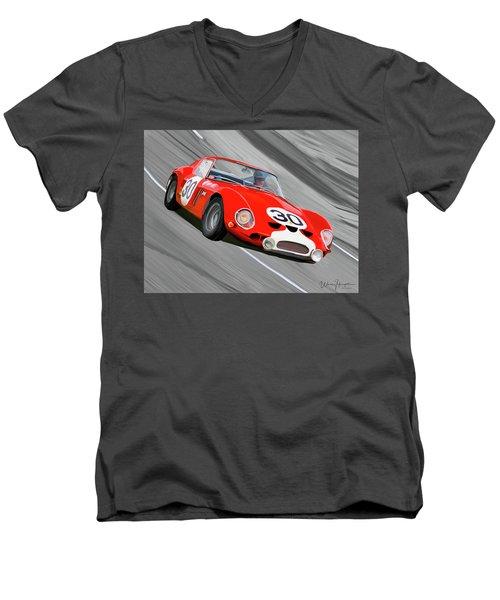 1962 Ferrari 250 Gto Men's V-Neck T-Shirt by Wally Hampton