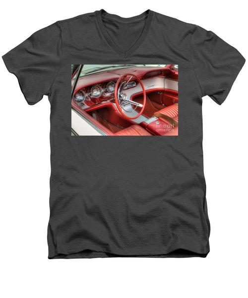 1962 Thunderbird Dash Men's V-Neck T-Shirt by Jerry Fornarotto