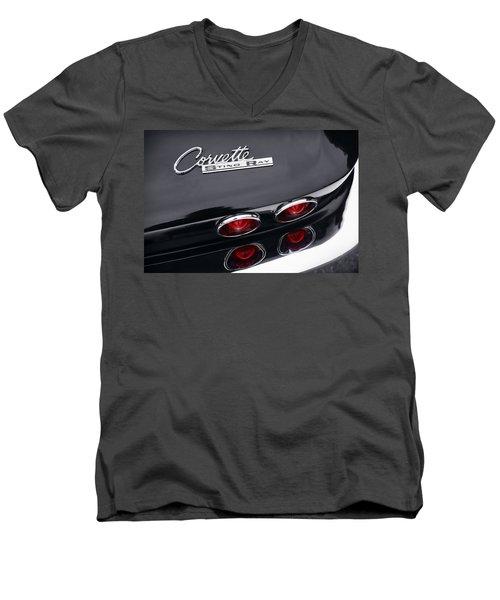 Men's V-Neck T-Shirt featuring the photograph 1964 Chevrolet Corvette Sting Ray  by Gordon Dean II