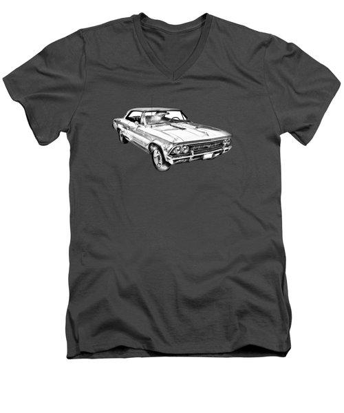 1966 Chevy Chevelle Ss 396 Illustration Men's V-Neck T-Shirt