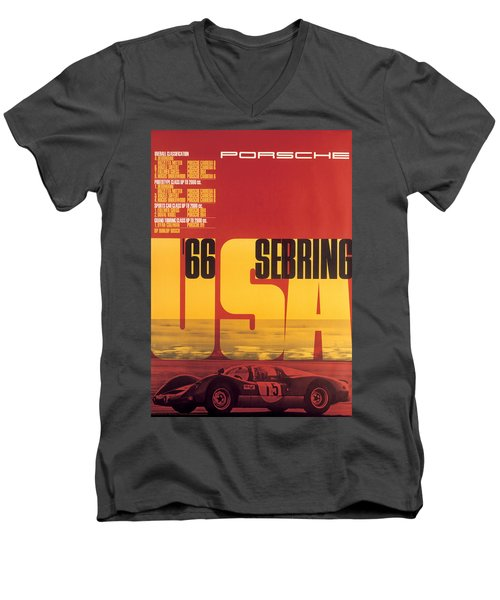 1966 Porsche 12 Hours Of Sebring Men's V-Neck T-Shirt