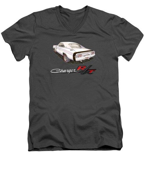 1968 Dodge Charger Tee Shirt Men's V-Neck T-Shirt