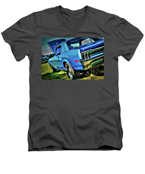 1968 Ford Mustang Men's V-Neck T-Shirt