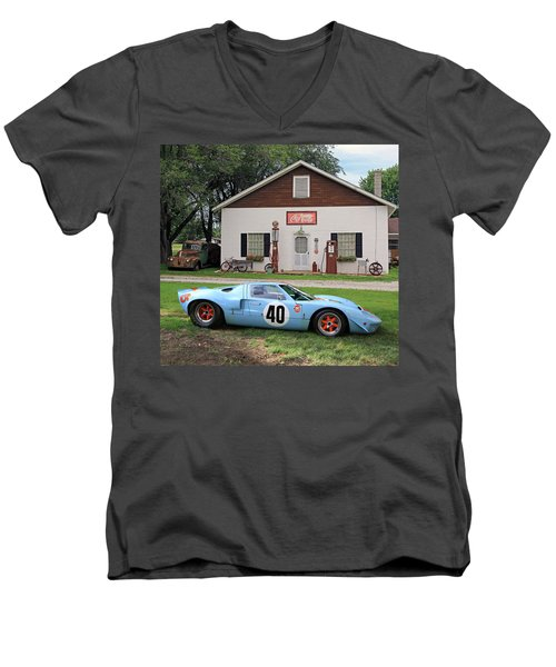 Men's V-Neck T-Shirt featuring the photograph 1968 Gulf Mirage In Missouri by Christopher McKenzie