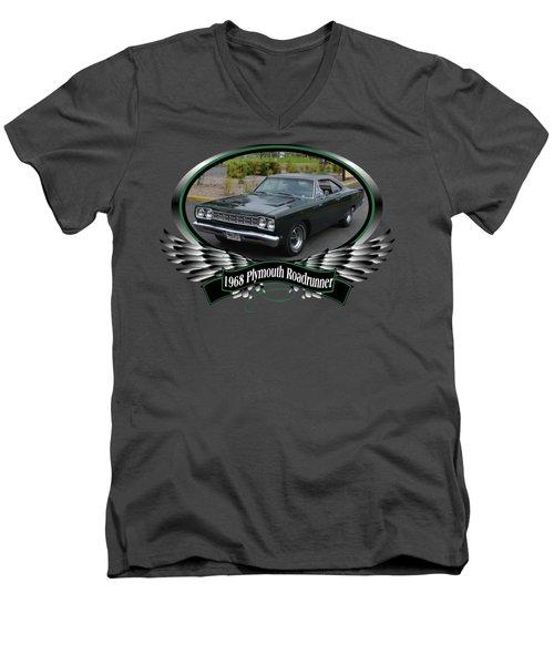1968 Plymouth Roadrunner Davie Men's V-Neck T-Shirt