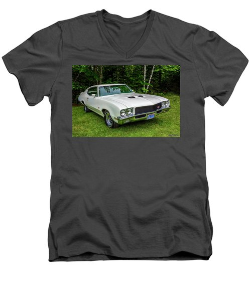 1971 Buick Skylark Gs Men's V-Neck T-Shirt
