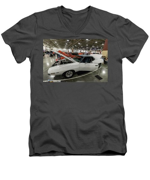 Men's V-Neck T-Shirt featuring the photograph 1972 Javelin Sst by Randy Scherkenbach