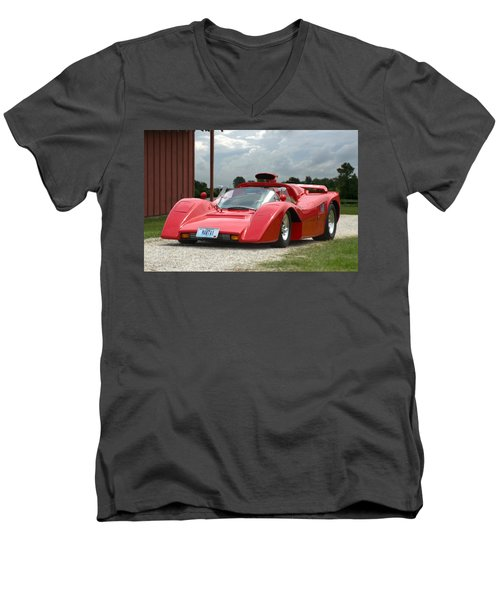 Men's V-Neck T-Shirt featuring the photograph 1974 Manta Mirage With Buick 215 Cubic Inch V8 by Tim McCullough