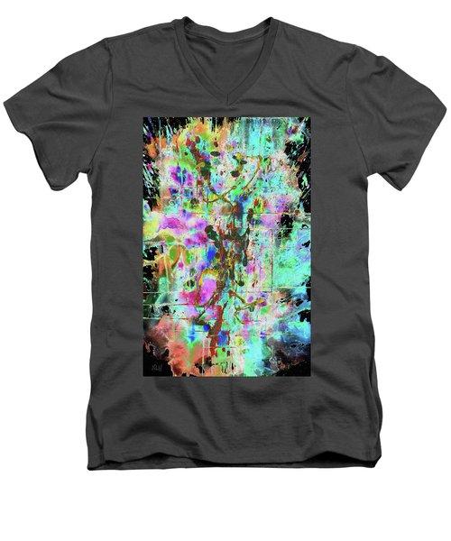 1995.033014invertx2 Men's V-Neck T-Shirt by Kris Haas