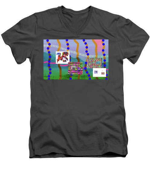 2-14-2057f Men's V-Neck T-Shirt