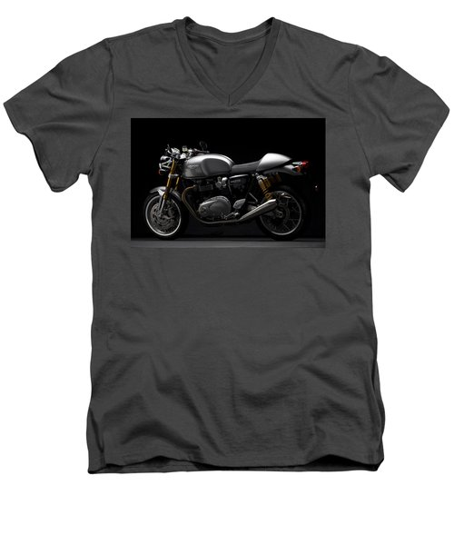 2016 Triumph Thruxton R Men's V-Neck T-Shirt
