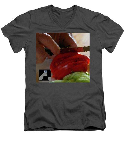 2-4-2057o Men's V-Neck T-Shirt